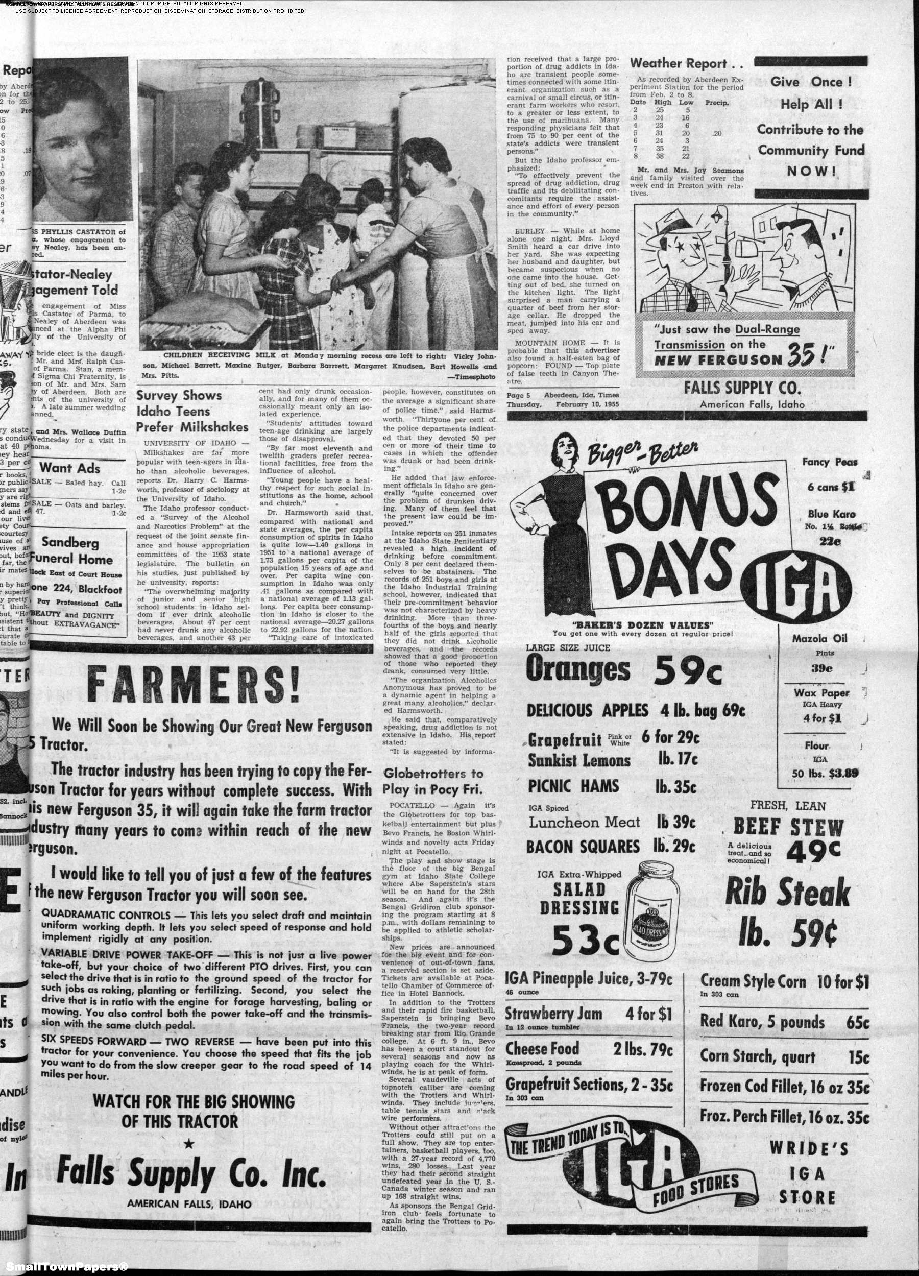 The Aberdeen Times February 10, 1955: Page 5